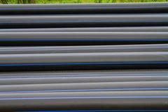 Tubo del HDPE para el abastecimiento de agua Foto de archivo libre de regalías