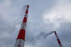 Tubo del humo Imagen de archivo libre de regalías