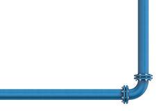 Tubo del metallo isolato su un fondo bianco royalty illustrazione gratis