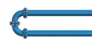 Tubo del metallo isolato su un fondo bianco illustrazione di stock