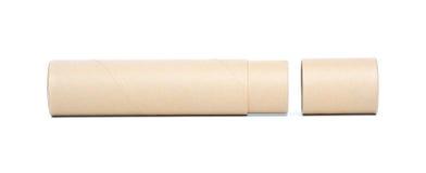 tubo del papel marrón Imagen de archivo libre de regalías