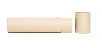 tubo del papel marrón Fotos de archivo libres de regalías