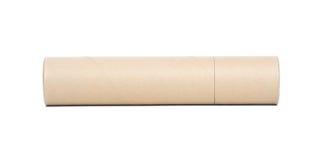 tubo del papel marrón Imágenes de archivo libres de regalías