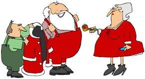 Tubo del pote de Papá Noel Foto de archivo libre de regalías