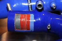 Tubo del silicón con la sección quitada. Imagen de archivo libre de regalías