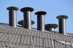 Tubo del tetto Fotografia Stock
