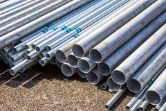 Tubo dell'acciaio del materiale da costruzione Fotografia Stock Libera da Diritti