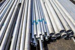 Tubo dell'acciaio del materiale da costruzione Fotografie Stock Libere da Diritti