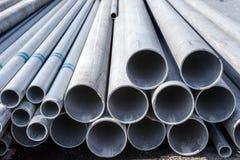Tubo dell'acciaio del materiale da costruzione Immagine Stock Libera da Diritti