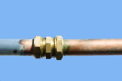 Tubo dell'impianto idraulico Immagine Stock Libera da Diritti