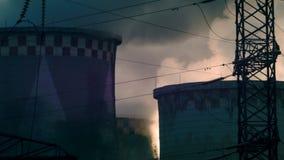Tubo della fabbrica stock footage