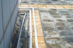 Tubo della pioggia fotografia stock libera da diritti