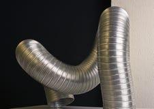 Tubo di alluminio ondulato Immagine Stock