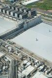 Tubo di aria alla cima di costruzione Fotografia Stock Libera da Diritti