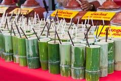 Tubo di bambù tailandese tradizionale. Immagine Stock Libera da Diritti