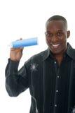 Tubo di dentifricio in pasta della holding dell'uomo Fotografia Stock Libera da Diritti