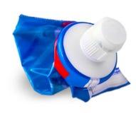 Tubo di dentifricio in pasta utilizzato Immagini Stock