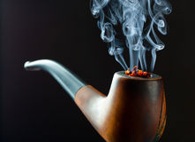 Tubo di fumo Fotografia Stock Libera da Diritti