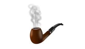 Tubo di fumo di legno Immagine Stock