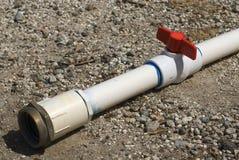 Tubo di irrigazione del PVC Fotografie Stock Libere da Diritti