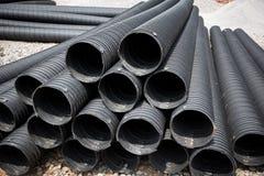 Tubo di plastica industriale Fotografie Stock