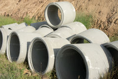Tubo di scarico concreto Fotografie Stock