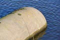 Tubo di scarico concreto dell'acqua Fotografia Stock