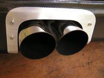 Tubo di scarico dell'automobile Immagine Stock