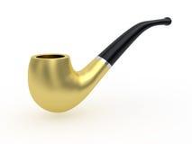 Tubo di tabacco dorato Fotografia Stock Libera da Diritti
