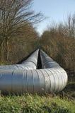 Tubo di transportion del gas naturale Fotografie Stock Libere da Diritti