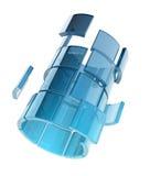 Tubo di vetro Fotografie Stock