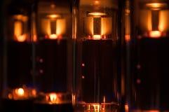 Tubo elettronico d'ardore immagini stock