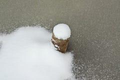 Tubo en el hielo Imagen de archivo libre de regalías