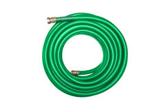 Tubo flessibile verde isolato su bianco immagine stock libera da diritti