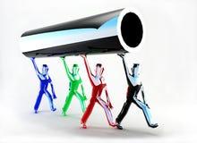 Tubo futuristico Fotografia Stock