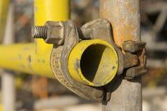 Tubo giallo fotografia stock libera da diritti