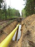 Tubo giallo immagine stock