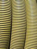 Tubo giallo consumato Fotografie Stock