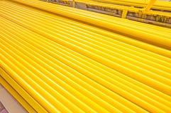 Tubo giallo del ferro Fotografia Stock Libera da Diritti