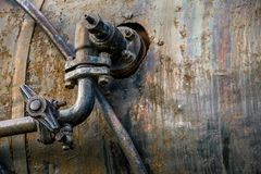 Tubo industrial oxidado Foto de archivo