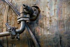 Tubo industriale arrugginito Fotografia Stock