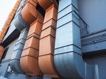 Tubo industriale del condizionamento d'aria e di ventilazione immagine stock