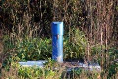 Tubo industriale del metallo con il cappuccio bloccato Fotografia Stock Libera da Diritti