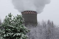 Tubo industriale di fumo Fotografie Stock