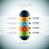 Tubo Infographic da cápsula Foto de Stock Royalty Free