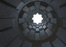 Tubo largo del metal, representación 3d Foto de archivo libre de regalías