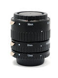 Tubo a macroistruzione di estensione dell'anello Fotografie Stock
