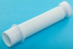 Tubo ondulato di plastica dell'impianto idraulico Fotografia Stock Libera da Diritti