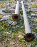 Tubo del metal para la bomba de agua Imagen de archivo libre de regalías