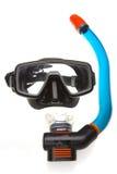 Tubo para zambullirse con la máscara (tubo respirador) y la máscara fotografía de archivo libre de regalías